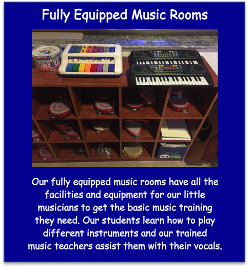 Fully Equipped Music Rooms